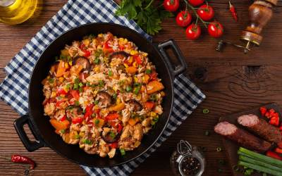 Quick and Easy Chicken and Shrimp Jambalaya