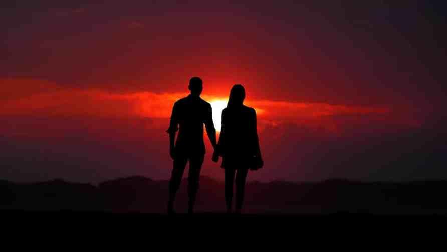 valentine's day Romantic sunset