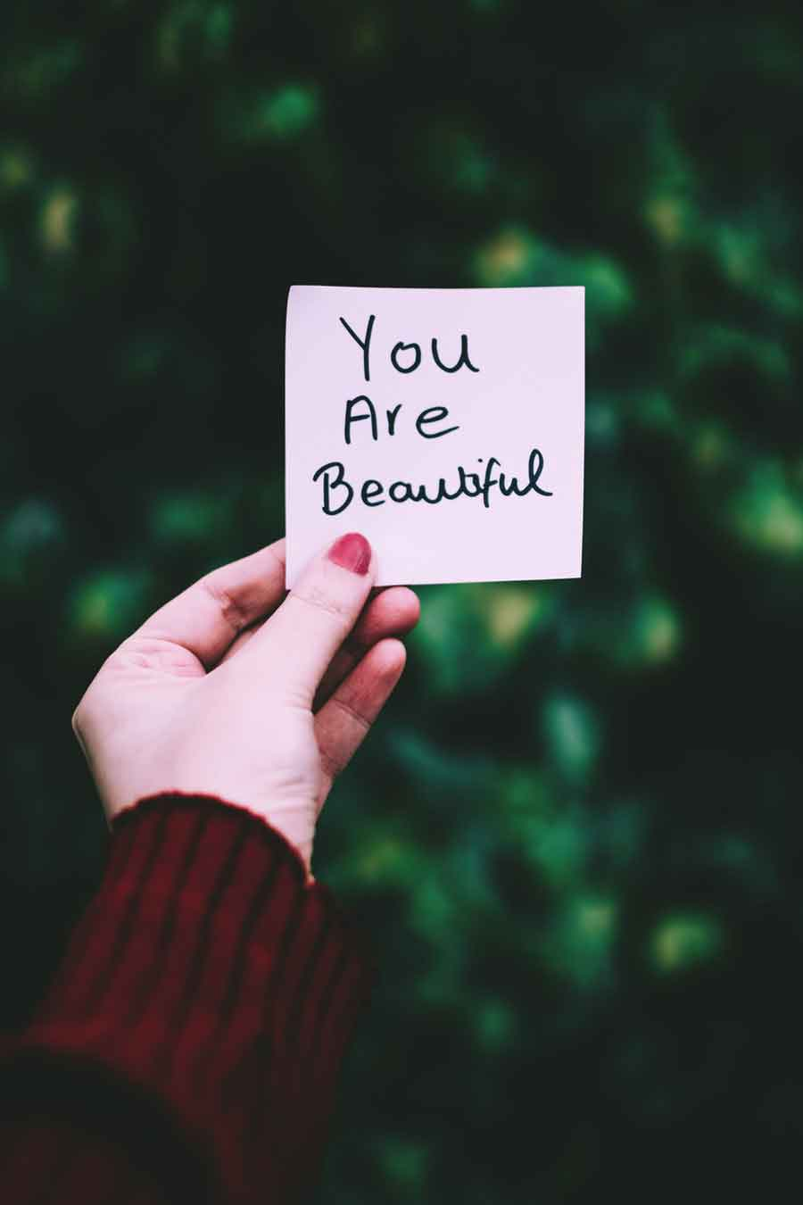 Write Yourself a love letter _ You are beautiful | single girls guide to rocking valentines day