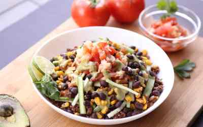 Grilled Mexican Street Corn and Black Bean Salsa