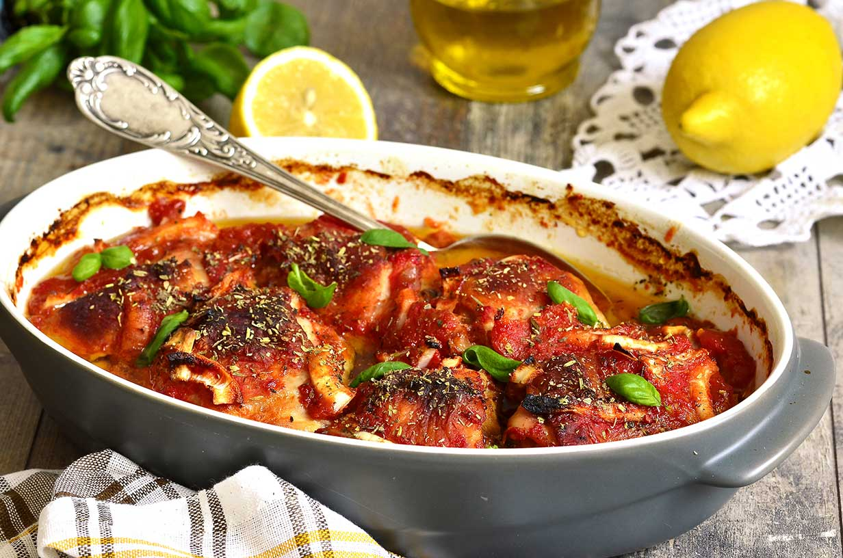 Slow Cooker Chicken Fra Diavolo Recipe via @mermaidsandmojitos