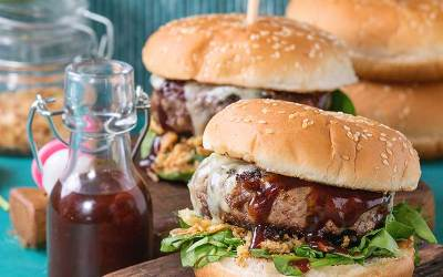 Honey Bourbon BBQ Burgers