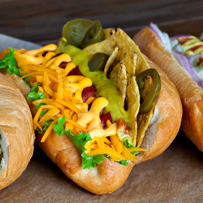 Taco Nacho Cheese Hot Dog via @mermaidsandmojitos