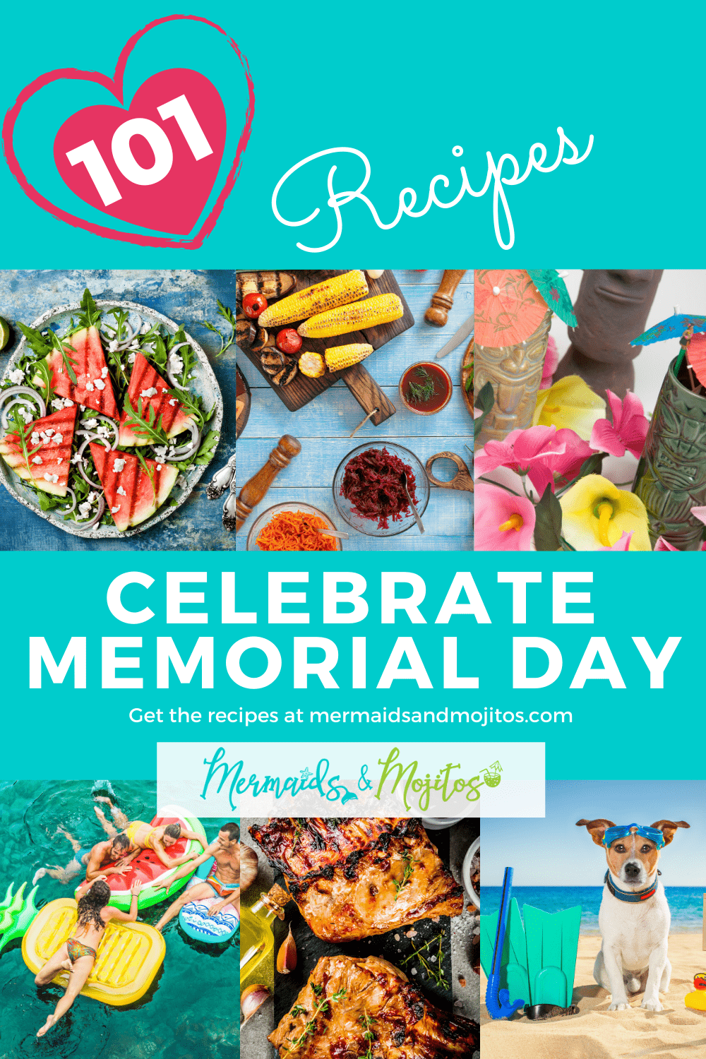 101 Easy Recipes for the Perfect Memorial Day Celebration. Celebrate Memorial Day with easy stress-free recipes and barbecue ideas.  Celebrate the American Spirit - the Land of the Brave Because We are the Home of the Brave. via @mermaidsandmojitos