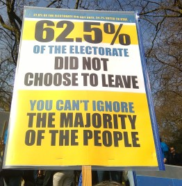62.5% of the electorate did not choose to leave You can't just ignore the majority of the people