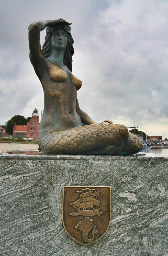 The Ustka mermaid statue