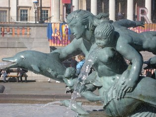 Trafalgar Square Mermaid fountains