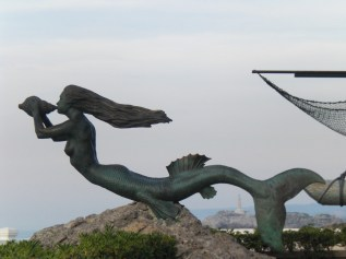 "Mermaid statue ""Sirena Magdalena"" in Santander Spain."