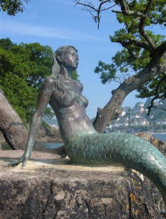 Mermaid statue - Miranda, Mermaid of Dartmouth.