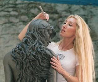 'Atlante' Mermaid Statue in Clay