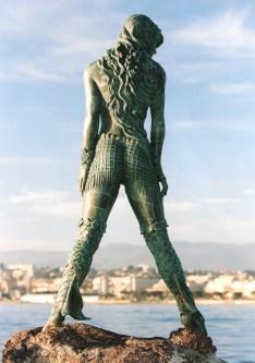 'Atlante' Mermaid sculpture in Cannes.