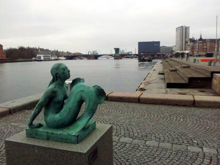 The Black Diamond Mermaid Statue.