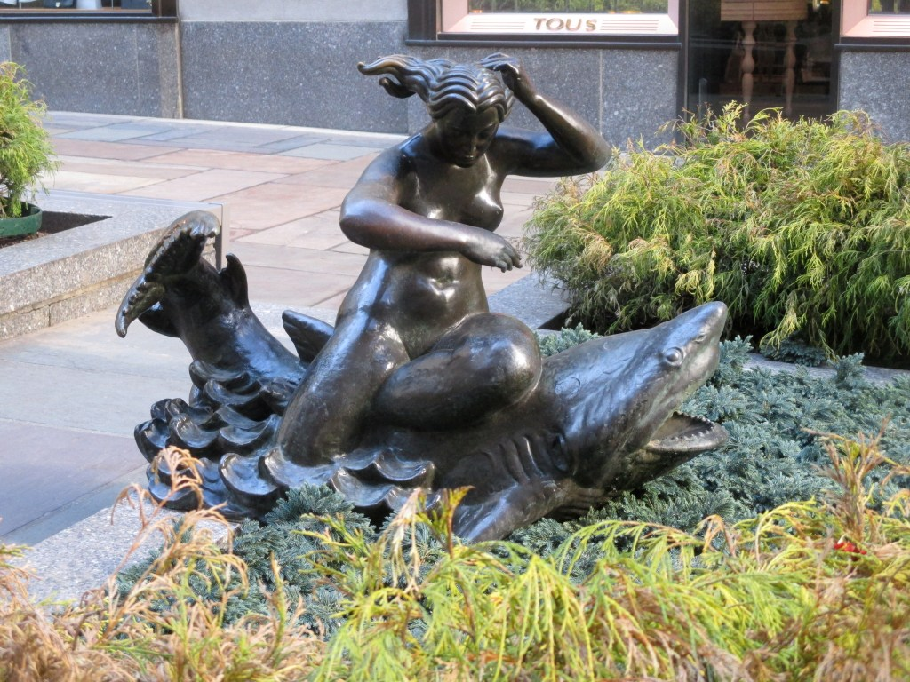 "The mermaid sculpture ""Thought""."