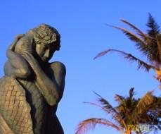 Mermaid Statue on Okinawa's Moon Beach. Photo by Travel67.com