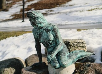 Greenville's Flat River Mermaid sculpture