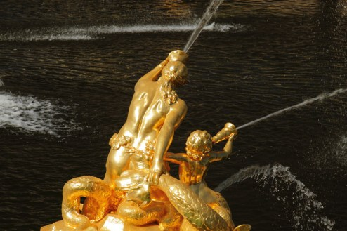 Mermaid statues in Samson Fountain at Peterhof