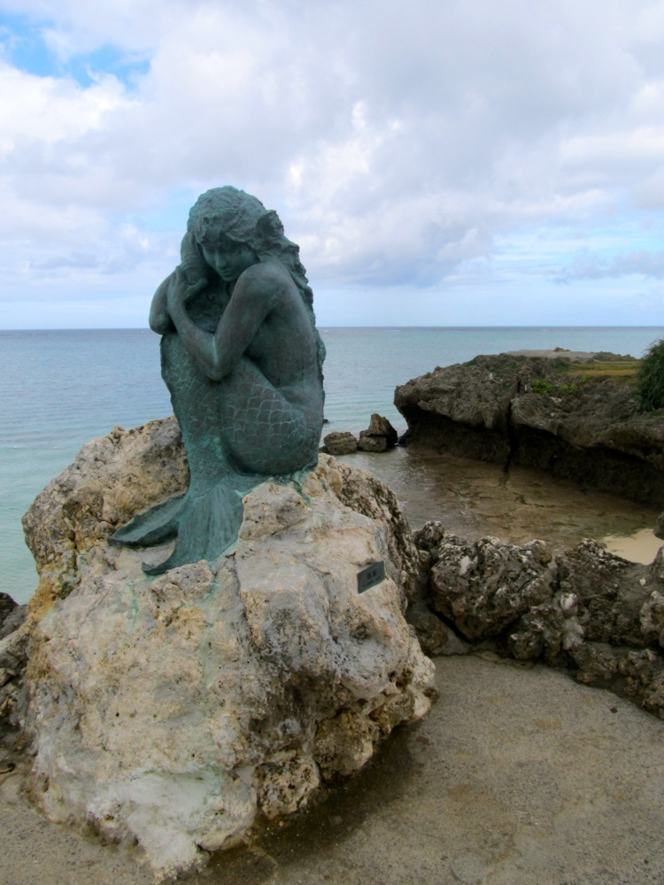 Moon Beach Mermaid sculpture