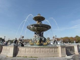 Fontaine Place de la Concorde, with mermaid statues.