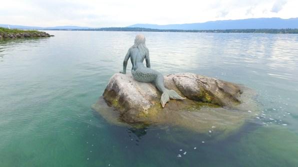 Mermaid Statue on Lake Geneva