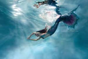 Mermaid Thalia in Ocean Motion