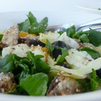 Sardine, egg and dukkah salad