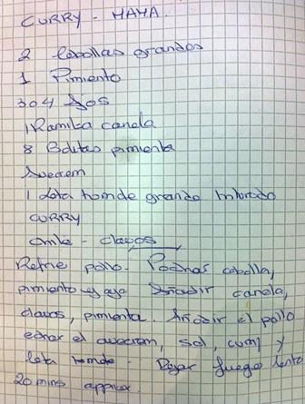 El cuaderno de Nuria