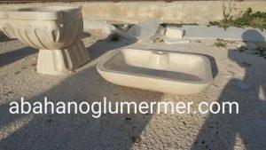 bej mermer lavabo em-003 ölçüleri : 45x70x15 cm fiyatı : 750 tl