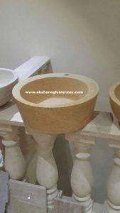 beyaz mermer evye em-060 ölçüleri : 50x42x15 cm fiyati 450 tl