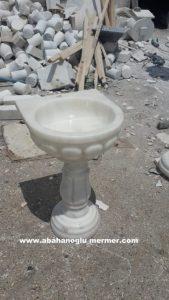 afyon beyaz mermer ayaklı evye em-063 ölçüleri : 50x42x85 cm fiyatı : 750 tl