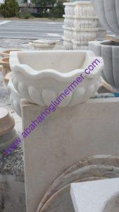 kavun dilimli yarım ay mermer kurna ku-052 ölçüleri : 40x45x25 cm fiyatı : 750 tl