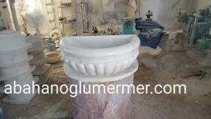 afyon beyaz mermer kurna ku-074 ölçüleri : 40x55x25 cm fiyatı 1500 tl