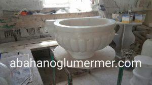 işlemeli beyaz kurna ku-076 ölçüleri : 45x55x35 cm fiyatı : 1800 tl