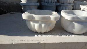 afyon beyaz kavun dilimli mermer kurna ku-081 ölçüleri : 45x25 cm fiyatı : 450 tl