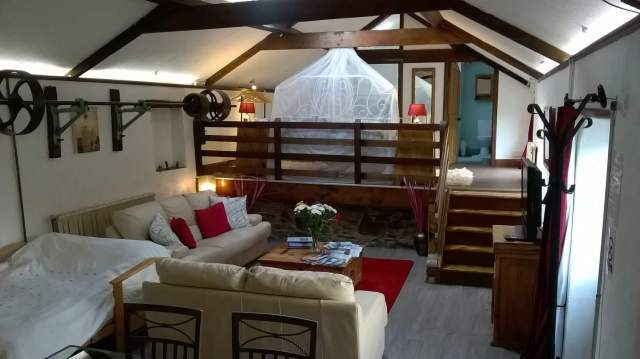 Merok Mill House - Self Catering Cottage Northern Ireland - Living Room with Futon