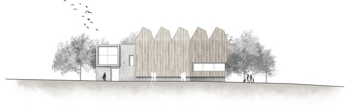 sección arquitectónica después