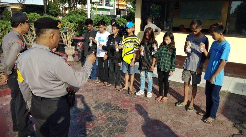 Polres Pinrang Amankan Remaja Pesta Hisap Lem Fox
