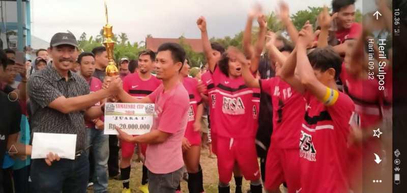 """Turnamen Sepak Bola"""" SAMAENRE CUP 2019"""" HSA Polman Tampil Sebagai Juara"""