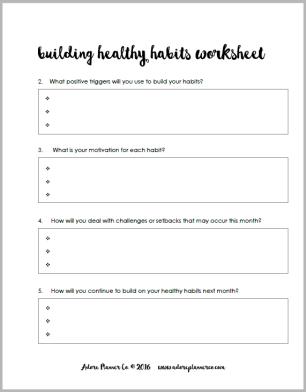 Building Healthy Habits 2