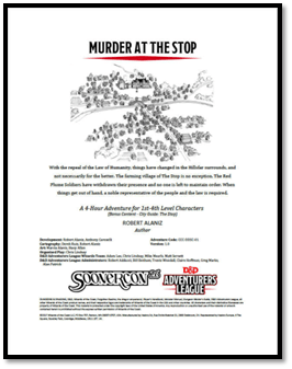 5E Adventure Review: Murder at the Stop – Merric's Musings