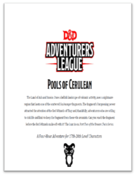 5E Adventure Review: Pools of Cerulean – Merric's Musings
