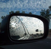 image via rear view mirror
