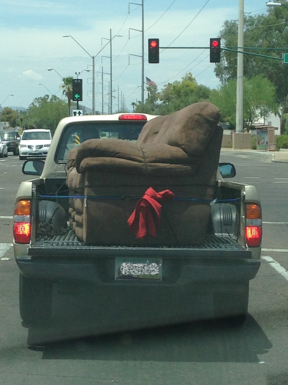image of couch in a truckbed