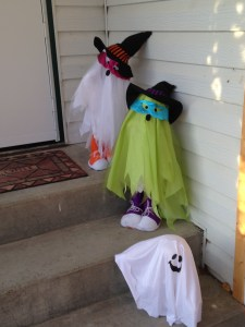 ghost on front steps