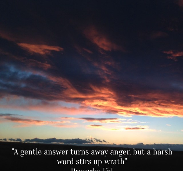 Bible verse with cloudy background