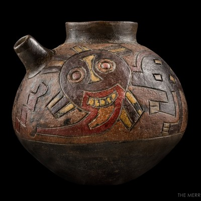 Vase with Engraved Decoration of Two Anthropozoomorphic Divinities