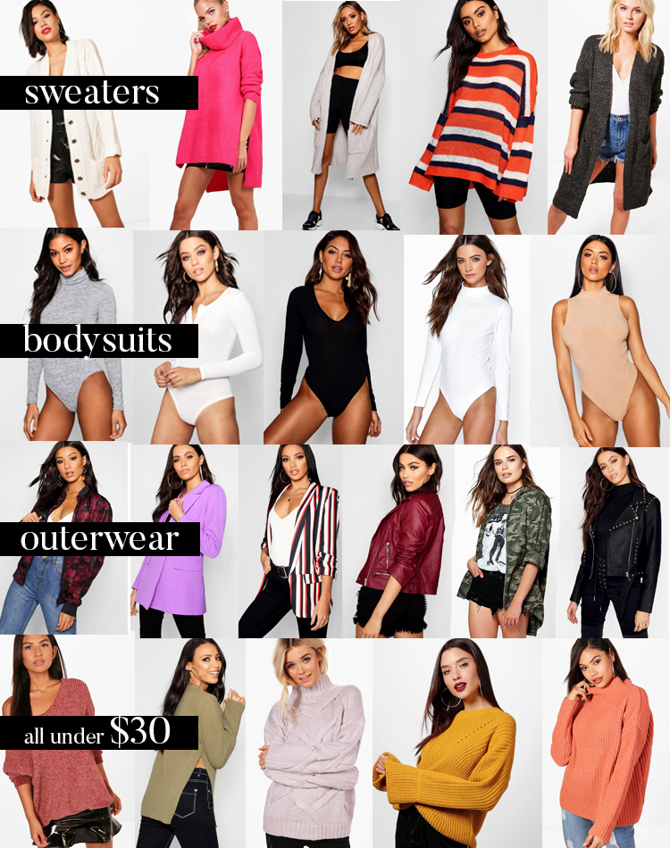 boohoo sale sweater cardigan bodysuits under$30