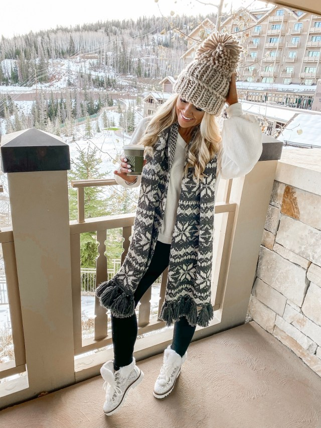 winter ski outfit