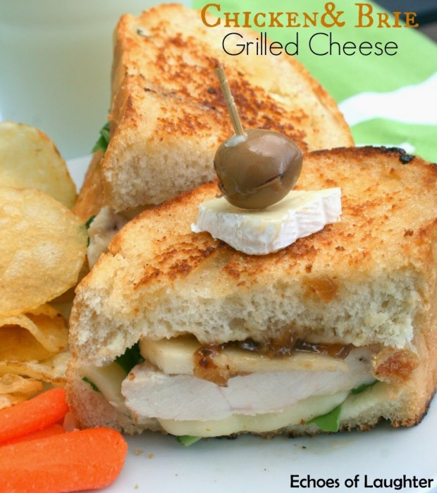 Chicken & Brie Grilled Cheese
