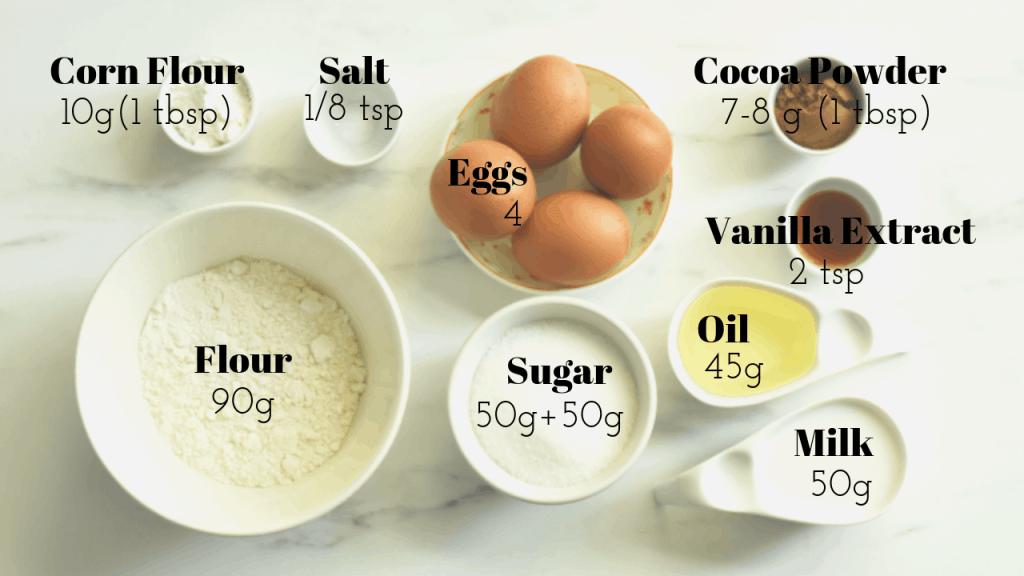 ingredients needed tomato zebra sponge cake