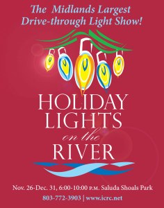 Saluda Shoals Holiday Lights on the River ad
